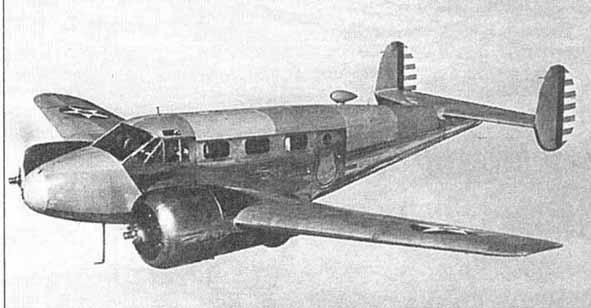 Beech f 2 модификация фоторазведчика 1941