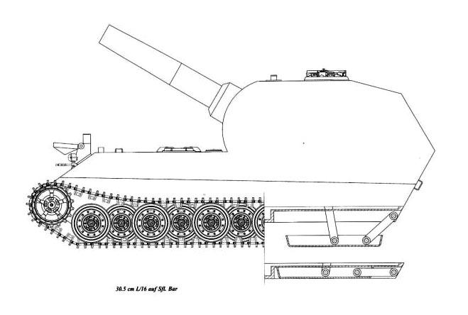 "Проекции тяжелого танка""Bär"""