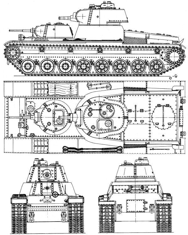 Проекции тяжелого танка Т-100