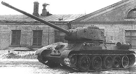 Т-34-100 с пушкой ЛБ-1, 1945 г.